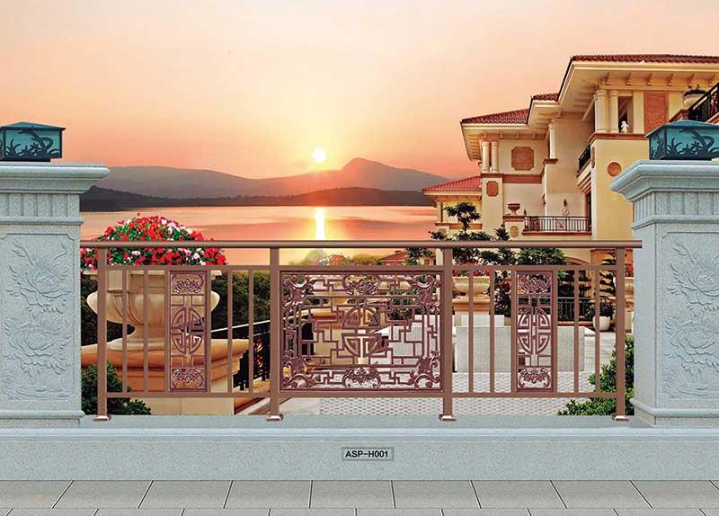 阳台铝艺栏杆